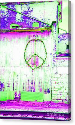 Canvas Print featuring the photograph Peace 2 by Minnie Lippiatt