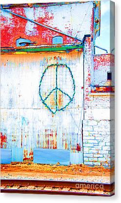 Peace 3 Canvas Print by Minnie Lippiatt