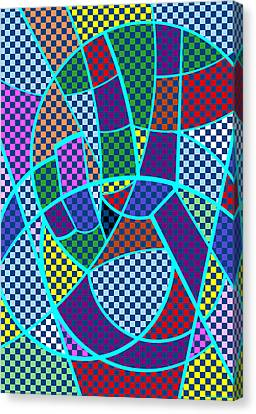 Canvas Print featuring the digital art Peace 5 Of 12 by Randall Henrie