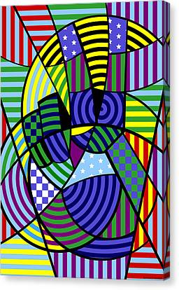 Canvas Print featuring the digital art Peace 8 Of 12 by Randall Henrie