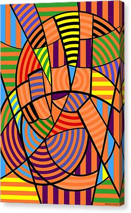 Canvas Print featuring the digital art Peace 9 Of 12 by Randall Henrie