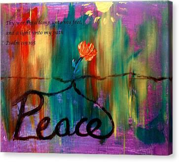 Peace Canvas Print by Amanda Dinan