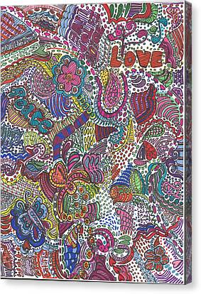 Peace And Love Canvas Print by Melissa Osborne
