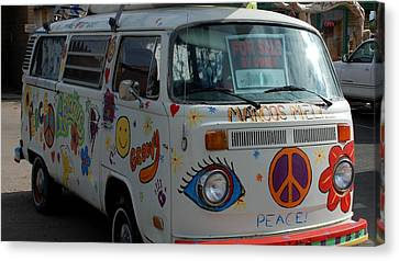 Peace And Love Van Canvas Print by Dany Lison