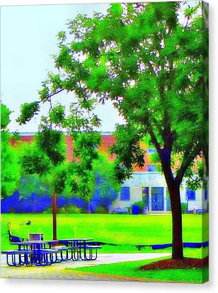 Peace And Lunch Canvas Print by Luis A Vera