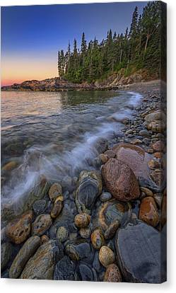Peace And Quiet On Little Hunters Beach Canvas Print