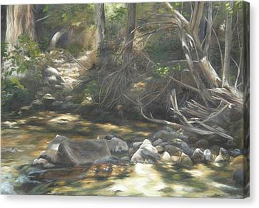 Canvas Print featuring the painting Peace At Darby by Lori Brackett