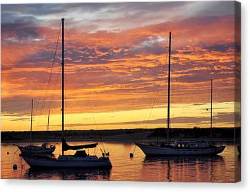 Peace At Days End Canvas Print by AJ  Schibig