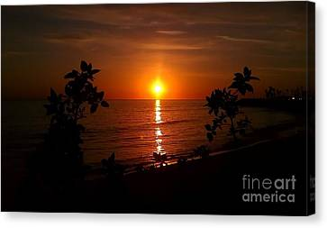 Canvas Print featuring the photograph Peace At The Beach by Chris Tarpening