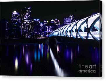 Peace Bridge Feeling The Blues Canvas Print by Bob Christopher