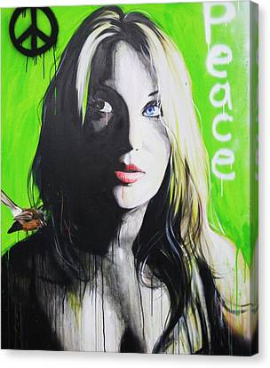Portrait - ' Peace ' Canvas Print