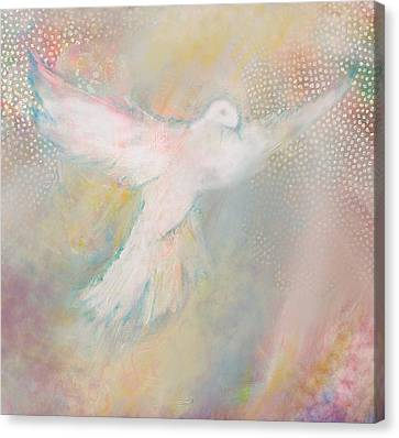 Peace Dove Canvas Print by Anne Cameron Cutri