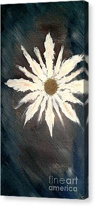 Canvas Print featuring the painting Peace Flower by Jacqueline McReynolds
