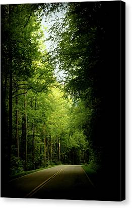 Smokey Mountain Drive Canvas Print - Peace Found Within by Karen Wiles