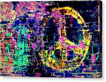 Canvas Print featuring the photograph Peace Graffiti by Suzanne Stout