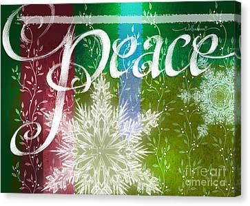 Peace Greeting Canvas Print