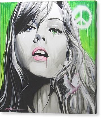 Portrait - ' Peace II ' Canvas Print