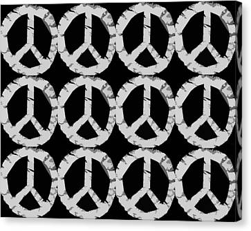 Peace In Black And White Canvas Print by Michelle Calkins