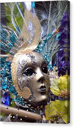 Canvas Print featuring the photograph Peace In The Mask by Amanda Eberly-Kudamik