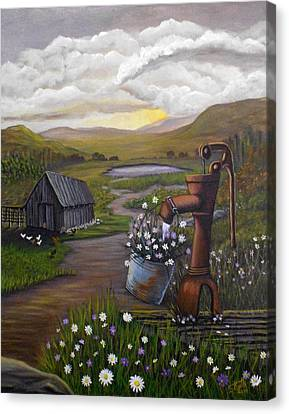 Canvas Print featuring the painting Peace In The Valley by Sheri Keith