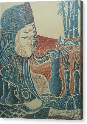 Peace Inside Us Canvas Print by Ousama Lazkani