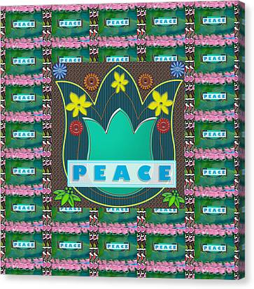 Peace Jobs Children Environment Society Country Nations World Politics Economy Brotherhood Drinking  Canvas Print by Navin Joshi
