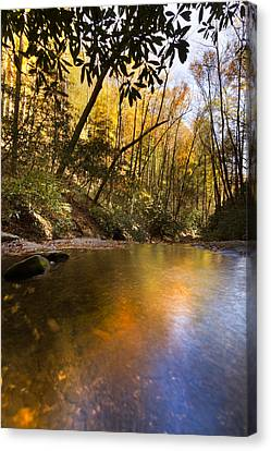 Peace Like A River Canvas Print by Debra and Dave Vanderlaan