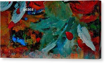 Canvas Print featuring the painting Peace by Lisa Kaiser