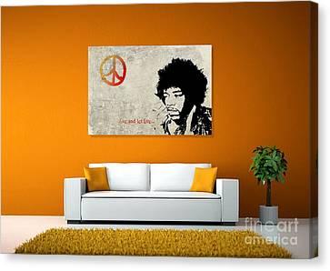 Peace Man Canvas Print by Andrea Kollo