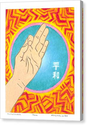 Peace - Mudra Mandala Canvas Print