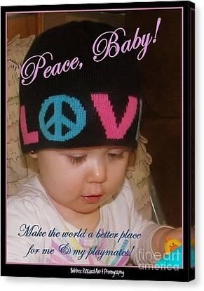 Peace N Love Baby Canvas Print