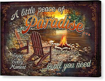 Peace Of Paradise Canvas Print by JQ Licensing