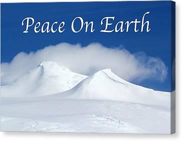Peace On Earth Card Canvas Print