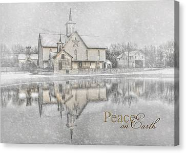 Peace On Earth Canvas Print by Lori Deiter