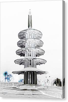 Peace Pagoda - Japan Town - San Francisco Canvas Print by Daniel Hagerman
