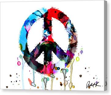 Peace Painting - Signed Art Abstract Paintings Modern Www.splashyartist.com Canvas Print