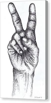 Peace Sign Canvas Print by Kamil Swiatek