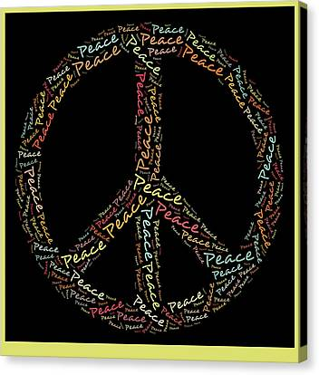 Peace Symbol - 0202 Canvas Print