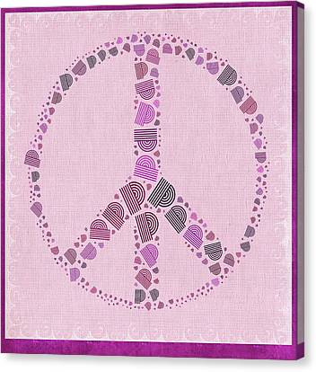 Peace Symbol Design - 42ct2b Canvas Print by Variance Collections