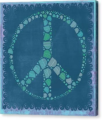 Peace Symbol Design - Tq19at02 Canvas Print