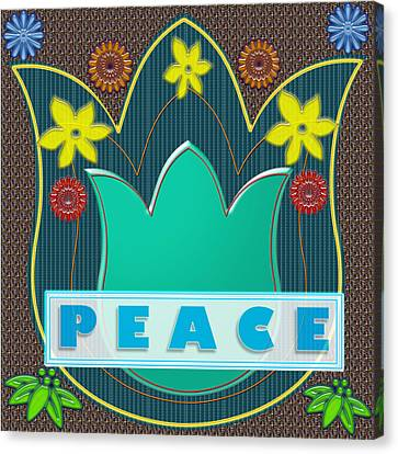 Peace War Political Social Economic Poverty Terrorism Justice Background Designs  And Color Tones N  Canvas Print by Navin Joshi