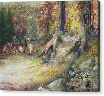 Peaceful Autumn Afternoon Canvas Print by Bonnie Goedecke