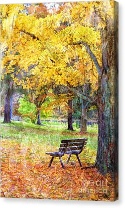 Peaceful Autumn Canvas Print by Darren Fisher