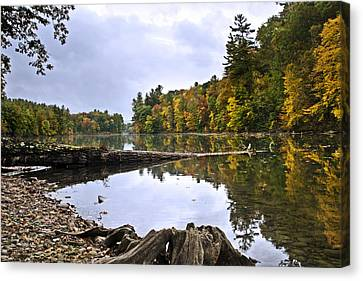 Peaceful Autumn Lake Canvas Print by Christina Rollo