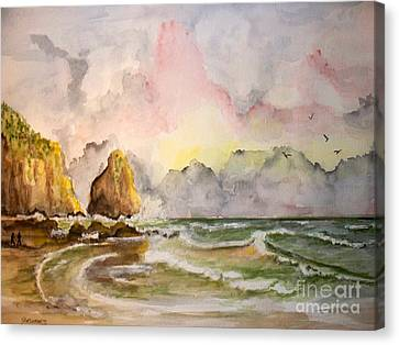 Peaceful Cove Canvas Print by Carol Grimes