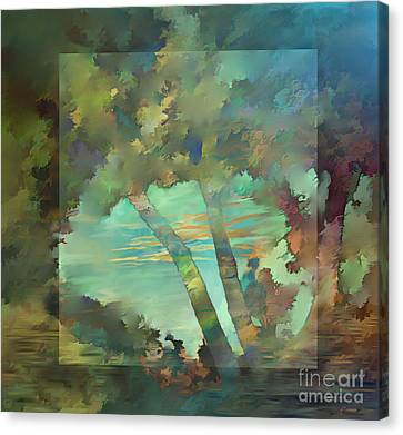 Canvas Print featuring the digital art Peaceful Dawn by Ursula Freer