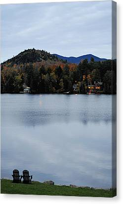 Peaceful Evening At The Lake Canvas Print by Terry DeLuco