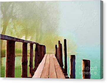 Peaceful Foggy Day Canvas Print by Liane Wright
