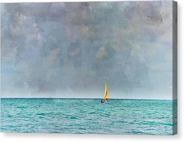 Peaceful Getaway Canvas Print by Kathy Jennings