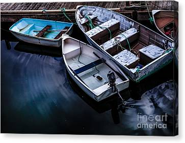 Peaceful Harbor Canvas Print by Diane Diederich